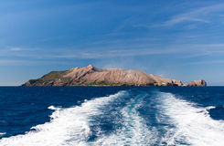 Biały wyspa wulkan Obrazy Royalty Free