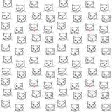 Białych kotów bezszwowy wzór Zdjęcia Stock