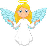 Biała anioł kreskówka Obraz Stock