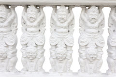 Biała balustrada Fotografia Royalty Free