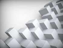 Biała 3d abstrakcjonistyczna bezszwowa tekstura Obraz Stock