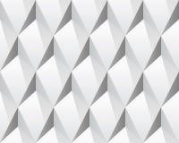 Biała 3d abstrakcjonistyczna bezszwowa tekstura (wektor) Obrazy Stock