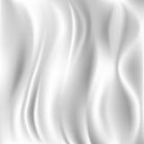 Biała Jedwabnicza tkanina dla draperii Abstrakcjonistycznego tła, Zdjęcia Stock