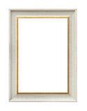 Biała klasyczna obraz kanwy rama Obrazy Stock