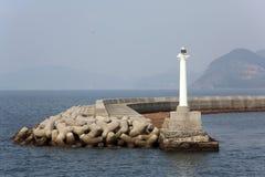 Biała latarnia morska Obraz Stock