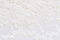 Biała ślub koronka Zdjęcie Royalty Free