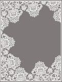 Biała wektor koronka Prostokąt rama Fotografia Stock