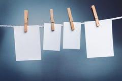 Białe papierowe karty Obrazy Royalty Free