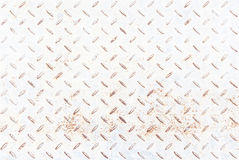 Białego metalu rhombus kształtował tło i teksturę, z rdzą Obrazy Stock