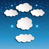 Białego papieru chmury Obrazy Royalty Free