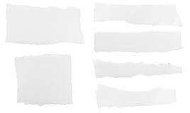 Białego papieru wiadomości rozdzierający tło Fotografia Royalty Free