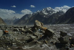Biafo glacier. Is one of remotest places in karakoram himalaya Royalty Free Stock Images