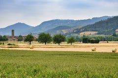 Biagasco或Groppo亚历山德里亚,意大利 免版税库存图片