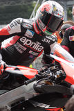 Biaggi maximum Aprilia Alitalia RSV4 1000 Photo stock