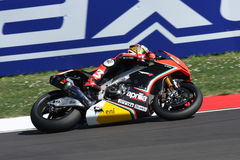 Biaggi maximum Aprilia RSV4 Aprilia emballant l'équipe Photo stock