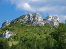 Biaklo - inlier wzgórze lokalizować na Krakowskim - Częstochowski wyż w Polska zdjęcie royalty free