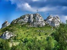 Biaklo - monte mais inlier situado no upland de Cracow - de Czestochowa no Polônia fotografia de stock royalty free