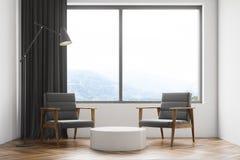 Biali żywi pokój, karła i stół, ilustracja wektor