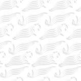 Biali abstrakcjonistyczni denni falowi kształty bezszwowi Obrazy Royalty Free