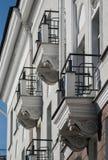 biali balkony Zdjęcia Stock