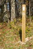 Biali blaski na Appalachian śladzie zdjęcia stock