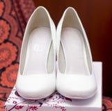 Biali buty panna młoda Zdjęcie Stock