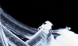 Biali ekspresyjni muśnięć uderzenia dla kreatywnie, nowatorskich, ciekawych tło w zen, projektują Fotografia Stock