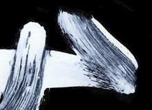 Biali ekspresyjni muśnięć uderzenia dla kreatywnie, nowatorskich, ciekawych tło w zen, projektują Zdjęcia Royalty Free