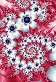 Biali fractal kwiaty ilustracji