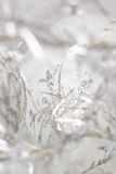 Biali i srebni boże narodzenia Fotografia Stock