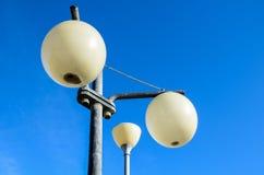 Biali kul ziemskich streetlights Obrazy Royalty Free