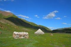 Biali Marnyi kamienie na Tybetańskim plateau Obraz Royalty Free