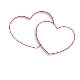 Biali miłość serca Zdjęcia Royalty Free