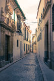 Ulicy w białej wiosce Andalucia, południowy Hiszpania Zdjęcie Stock