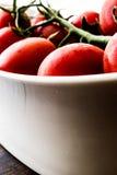 biali misek wiśnie pomidorów Obrazy Stock