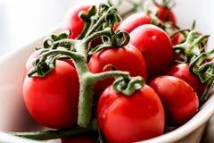 biali misek wiśnie pomidorów Obrazy Royalty Free