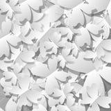 Biali motyle od papieru Fotografia Royalty Free