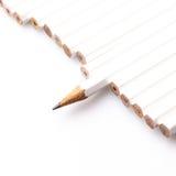 Biali ołówki Obrazy Royalty Free