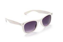 Biali okulary przeciwsłoneczni Zdjęcia Royalty Free
