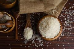 Biali organicznie jaśminowi ryż Obraz Stock