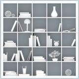 Biali półka na książki ilustracyjni Obraz Stock
