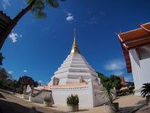 Biali pagodowi phrae Thailand Zdjęcia Royalty Free