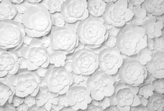 Biali Papierowi kwiaty Zdjęcia Stock