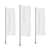 Biali pionowo sztandar flaga szablony Fotografia Stock