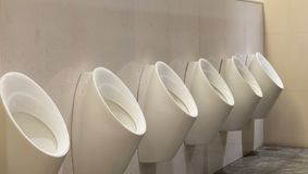 Biali pisuary ceramiczni Obraz Stock