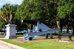 Biali punktów ogródy, Charleston, SC zdjęcia stock