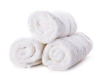 Biali ręczniki zdjęcia stock
