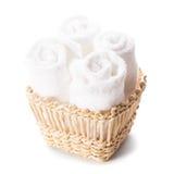 Biali ręczniki zdjęcie stock
