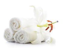 biali ręczniki fotografia royalty free