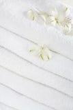 biali ręczniki Zdjęcie Royalty Free